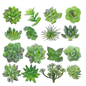 16 piece fake succulents plant set